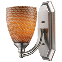 ELK 570-1N-C Mix and Match 1 Light 8 inch Satin Nickel Vanity Light Wall Light in Cocoa, Incandescent