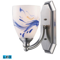 ELK 570-1N-MT-LED Vanity LED 5 inch Satin Nickel Bath Bar Wall Light in Mountain Glass, 1 photo thumbnail