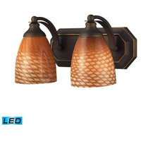 ELK Lighting Vanity 2 Light Bath Bar in Aged Bronze 570-2B-C-LED
