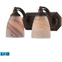 ELK Lighting Vanity 2 Light Bath Bar in Aged Bronze 570-2B-CR-LED
