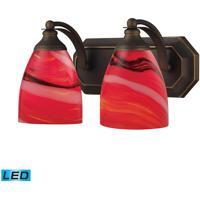 ELK Lighting Vanity 2 Light Bath Bar in Aged Bronze 570-2B-CY-LED