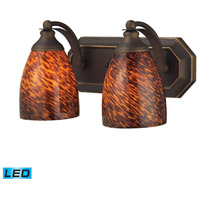 ELK Lighting Vanity 2 Light Bath Bar in Aged Bronze 570-2B-ES-LED