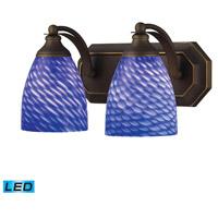 ELK Lighting Vanity 2 Light Bath Bar in Aged Bronze 570-2B-S-LED