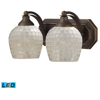 ELK Lighting Vanity 2 Light Bath Bar in Aged Bronze 570-2B-SLV-LED