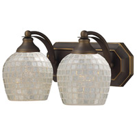 ELK Lighting Vanity 2 Light Bath Bar in Aged Bronze 570-2B-SLV