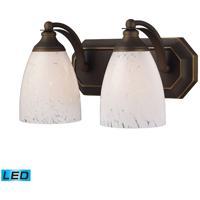 ELK Lighting Vanity 2 Light Bath Bar in Aged Bronze 570-2B-SW-LED