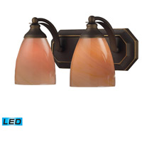 ELK Lighting Vanity 2 Light Bath Bar in Aged Bronze 570-2B-SY-LED