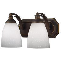 ELK Lighting Vanity 2 Light Bath Bar in Aged Bronze 570-2B-WH