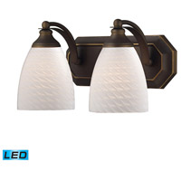 ELK Lighting Vanity 2 Light Bath Bar in Aged Bronze 570-2B-WS-LED