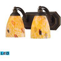 ELK Lighting Vanity 2 Light Bath Bar in Aged Bronze 570-2B-YW-LED