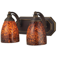 ELK 570-2B-ES Mix and Match 2 Light 14 inch Aged Bronze Vanity Light Wall Light in Espresso, Incandescent