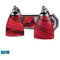 ELK Lighting Vanity 2 Light Bath Bar in Polished Chrome 570-2C-A-LED