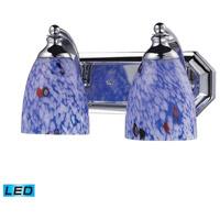 ELK Lighting Vanity 2 Light Bath Bar in Polished Chrome 570-2C-BL-LED