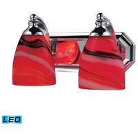 ELK Lighting Vanity 2 Light Bath Bar in Polished Chrome 570-2C-CY-LED