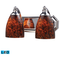 ELK Lighting Vanity 2 Light Bath Bar in Polished Chrome 570-2C-ES-LED