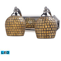 ELK Lighting Vanity 2 Light Bath Bar in Polished Chrome 570-2C-GLD-LED