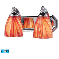 ELK Lighting Vanity 2 Light Bath Bar in Polished Chrome 570-2C-M-LED