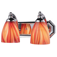 ELK Lighting Vanity 2 Light Bath Bar in Polished Chrome 570-2C-M