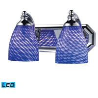 ELK Lighting Vanity 2 Light Bath Bar in Polished Chrome 570-2C-S-LED