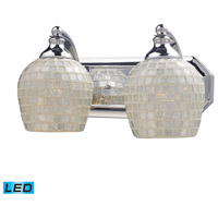 ELK Lighting Vanity 2 Light Bath Bar in Polished Chrome 570-2C-SLV-LED