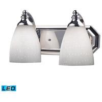 ELK Lighting Vanity 2 Light Bath Bar in Polished Chrome 570-2C-WH-LED