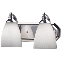 ELK Lighting Vanity 2 Light Bath Bar in Polished Chrome 570-2C-WH