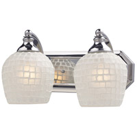 ELK Lighting Vanity 2 Light Bath Bar in Polished Chrome 570-2C-WHT