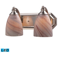 ELK Lighting Vanity 2 Light Bath Bar in Satin Nickel 570-2N-CR-LED