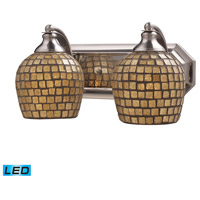 ELK Lighting Vanity 2 Light Bath Bar in Satin Nickel 570-2N-GLD-LED
