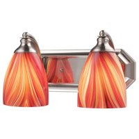 ELK Lighting Vanity 2 Light Bath Bar in Satin Nickel 570-2N-M