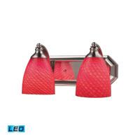 ELK Lighting Vanity 2 Light Bath Bar in Satin Nickel 570-2N-SC-LED