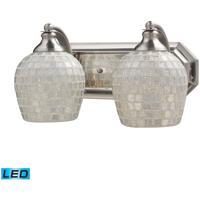 ELK Lighting Vanity 2 Light Bath Bar in Satin Nickel 570-2N-SLV-LED