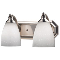 ELK Lighting Vanity 2 Light Bath Bar in Satin Nickel 570-2N-WH