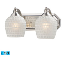 ELK Lighting Vanity 2 Light Bath Bar in Satin Nickel 570-2N-WHT-LED