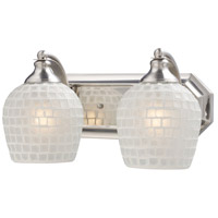 ELK Lighting Vanity 2 Light Bath Bar in Satin Nickel 570-2N-WHT photo thumbnail