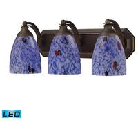 ELK Lighting Vanity 3 Light Bath Bar in Aged Bronze 570-3B-BL-LED