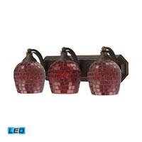 ELK Lighting Vanity 3 Light Bath Bar in Aged Bronze 570-3B-CPR-LED