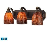 ELK Lighting Vanity 3 Light Bath Bar in Aged Bronze 570-3B-ES-LED