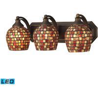 ELK Lighting Vanity 3 Light Bath Bar in Aged Bronze 570-3B-MLT-LED