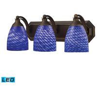 ELK Lighting Vanity 3 Light Bath Bar in Aged Bronze 570-3B-S-LED