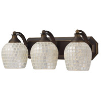 ELK Lighting Vanity 3 Light Bath Bar in Aged Bronze 570-3B-SLV