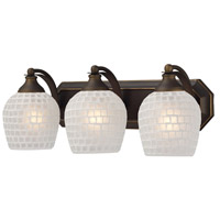 ELK Lighting Vanity 3 Light Bath Bar in Aged Bronze 570-3B-WHT
