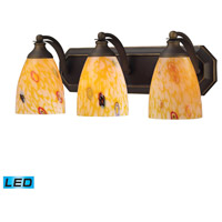 ELK Lighting Vanity 3 Light Bath Bar in Aged Bronze 570-3B-YW-LED
