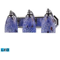 ELK Lighting Vanity 3 Light Bath Bar in Polished Chrome 570-3C-BL-LED