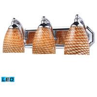 ELK Lighting Vanity 3 Light Bath Bar in Polished Chrome 570-3C-C-LED