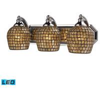 ELK Lighting Vanity 3 Light Bath Bar in Polished Chrome 570-3C-GLD-LED