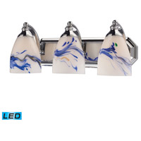 ELK Lighting Vanity 3 Light Bath Bar in Polished Chrome 570-3C-MT-LED