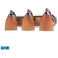 ELK Lighting Vanity 3 Light Bath Bar in Polished Chrome 570-3C-SY-LED