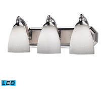 ELK Lighting Vanity 3 Light Bath Bar in Polished Chrome 570-3C-WH-LED