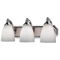 ELK Lighting Vanity 3 Light Bath Bar in Polished Chrome 570-3C-WH